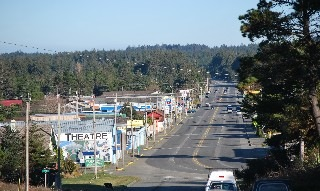 Downtown Port Orford view.